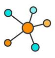blockchain network line icon minimal pictogram vector image vector image