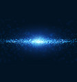 blue wavy and shining particles background vector image