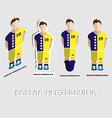 Bosnia-Herzegovina Soccer Team Sportswear Template vector image vector image