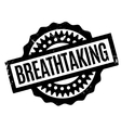 Breathtaking rubber stamp vector image vector image