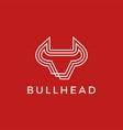 bull head logo icon vector image vector image