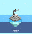 business sense and strategy isometric flat vector image vector image