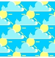 clouds and sun good weather seamless vector image