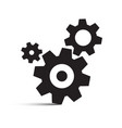 cog gear isolated icons vector image vector image