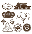 Cotton decoration elements vector image vector image