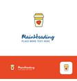 creative juice glass logo design flat color logo vector image