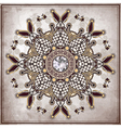diamond stone on old paper background vector image