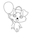 dog with hanging ears in a cap with a visor vector image