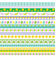 easter border patterns vector image vector image