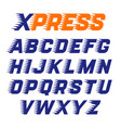 express service font vector image vector image