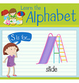 Flashcard letter S is for slide vector image vector image