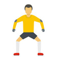football icon flat style vector image vector image