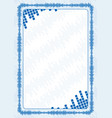frame and border with blue volume levels for vector image