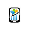 grow business via phone vector image vector image