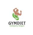 Gym Diet Design vector image vector image