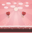 happy valentine day concept vector image