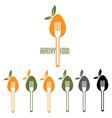 healthy food design template vector image