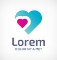 Heart symbol logo icon design template
