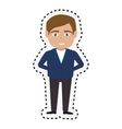 hotel receptionist character icon vector image