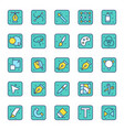 icons set art and graphic designer cursors vector image vector image
