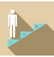Infographics stair step icon flat style vector image