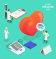isometric flat concept blood pressure vector image