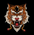 japanese tiger head vector image vector image