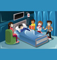 kids visiting their friend in hospital vector image