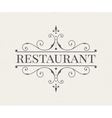 luxury logo and monogram line art template vector image