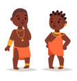 maasai african people in traditional clothing vector image vector image