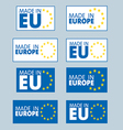 Made in European Union labels vector image vector image