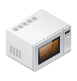 Microwave oven detailed isometric icon vector image vector image