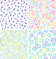Neon abstraction seamless patterns set vector image
