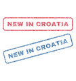new in croatia textile stamps vector image vector image