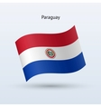 Paraguay flag waving form vector image vector image
