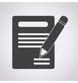 pencil icon and notebook icon vector image vector image