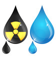 polluted and clean drop water vector image vector image