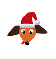 portrait of cute cartoon dachshund dog dressed in vector image