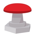Red button icon cartoon style vector image vector image