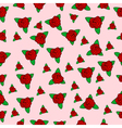 Seamless floral textile design with small flowers vector image vector image