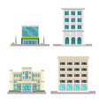 set flat design buildingscompany building vector image vector image