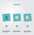 set of drink icons flat style symbols with vector image