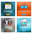 Set of flat design concepts Development game vector image vector image