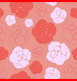 simple red and pink rose pattern vector image vector image