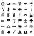 singapore icons set simple style vector image vector image