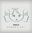 Sketch of a beautiful girl for Happy Womens Day vector image vector image