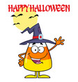 smiling candy corn cartoon character vector image vector image