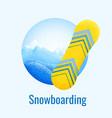 snowboarding retro banner vector image