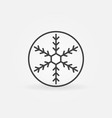 snowflake in circle outline icon vector image vector image