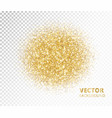 sparkling circle golden glitter explosion vector image vector image